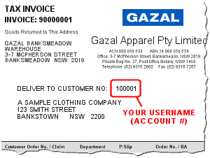 Sample of Gazal Invoice